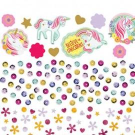 confetti unicorno decoro tavolo