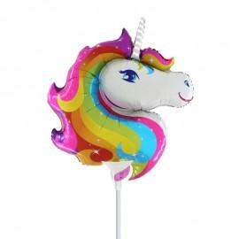 palloncino unicorno mini shape arcobaleno
