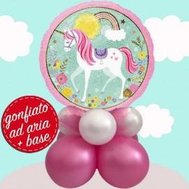 composizione con palloncino unicorno magico