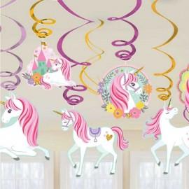 decorazioni tetto unicorno festa