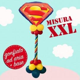 composizione maxi con palloncino emblema superman