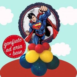 composizione festa palloncino superman