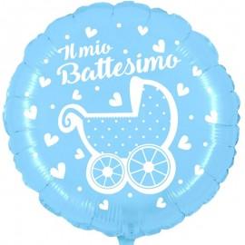 palloncino il mio battesimo celeste con carrozzina