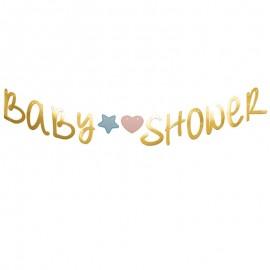 festone baby shower oro