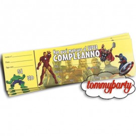 20 inviti festa Avengers