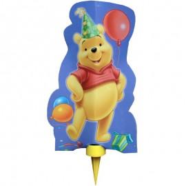 candela di Winnie con mascherina