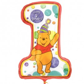 palloncino a forma di numero 1 di Winnie Pooh
