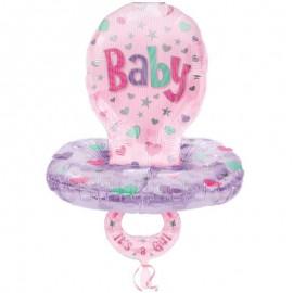 palloncino ciuccio baby rosa