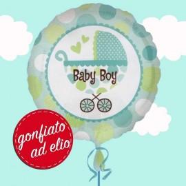 palloncino ad elio stampa baby boy verde acqua