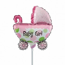 palloncino mini shape carrozzina rosa