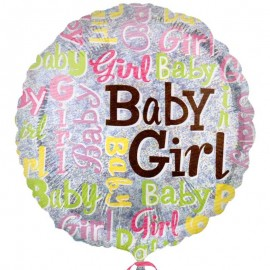 palloncino in mylar stampa baby girl in offerta