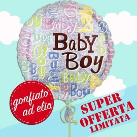 palloncino in mylar gonfiato ad elio baby boy