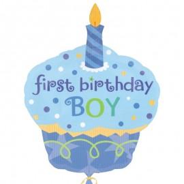 palloncino primo compleanno a forma di cupcake