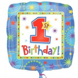 palloncino primo compleanno quadrato