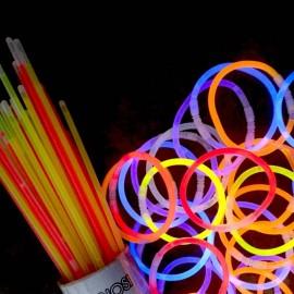 braccialetti luminosi fluo da 100 pezzi