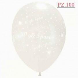 palloncini trasparenti w gli sposi 12 pollici