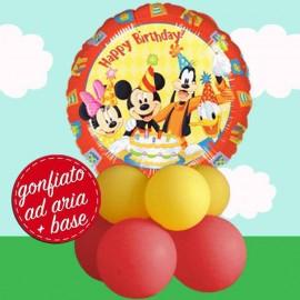 composizione palloncino con topolino happy birthday