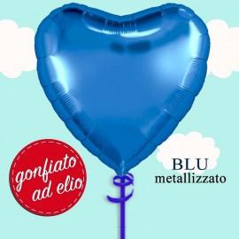 palloncino cuore blu ad elio