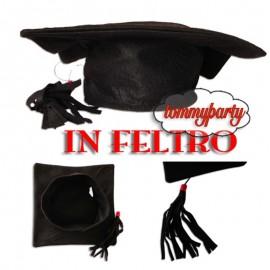 Tocco cappello laurea feltro