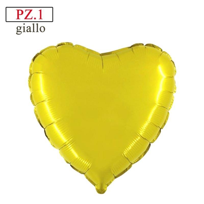 palloncino forma di cuore giallo in mylar