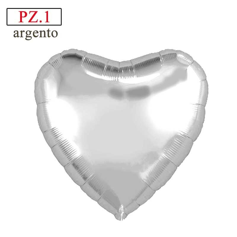 palloncino cuore argento mylar