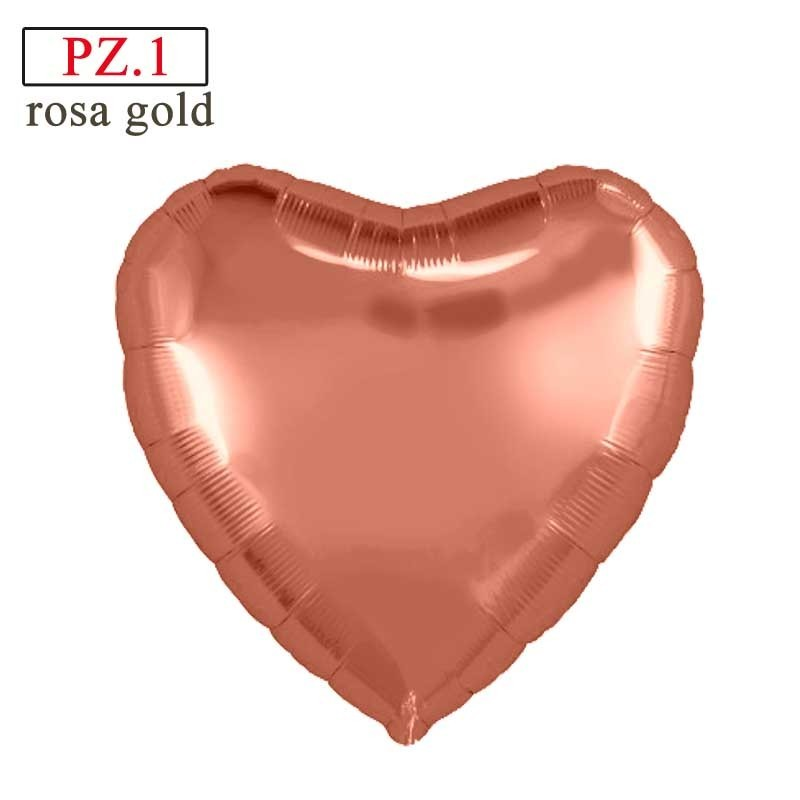 palloncino cuore rosa gold mylar