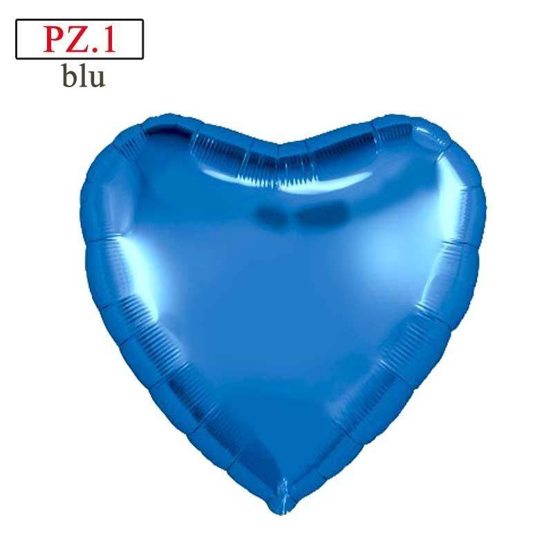 palloncino cuore blu mylar