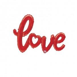 palloncino scritta love rosso