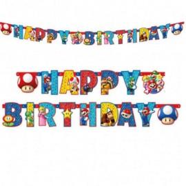 festone super Mario happy birthday