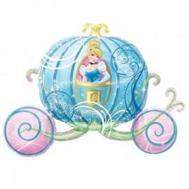 palloncino carrozza di cenerentola celeste