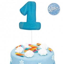 numero 1 cake topper