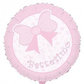 palloncino battesimo rosa chiaro