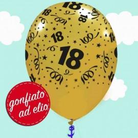 palloncino oro metallizzato stampa 18 ad elio