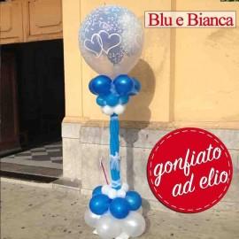 mongolfiera sposi chiesa blu