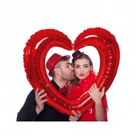 cornice cuore rosso metallizzato