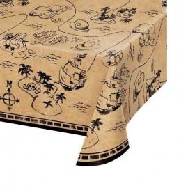 tovaglia mappa del tesoro dei pirati