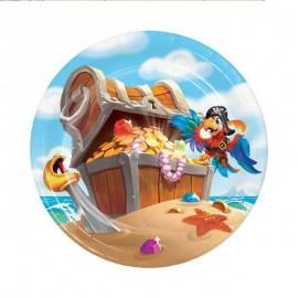 piatto piccolo tesoro dei pirati