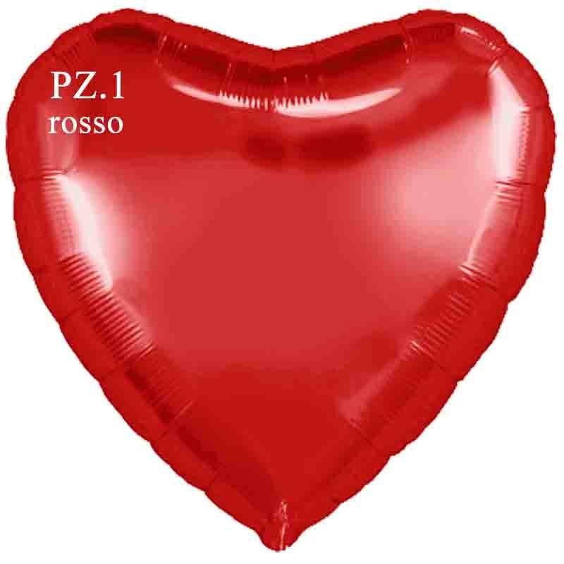 palloncino cuore rosso cm.80