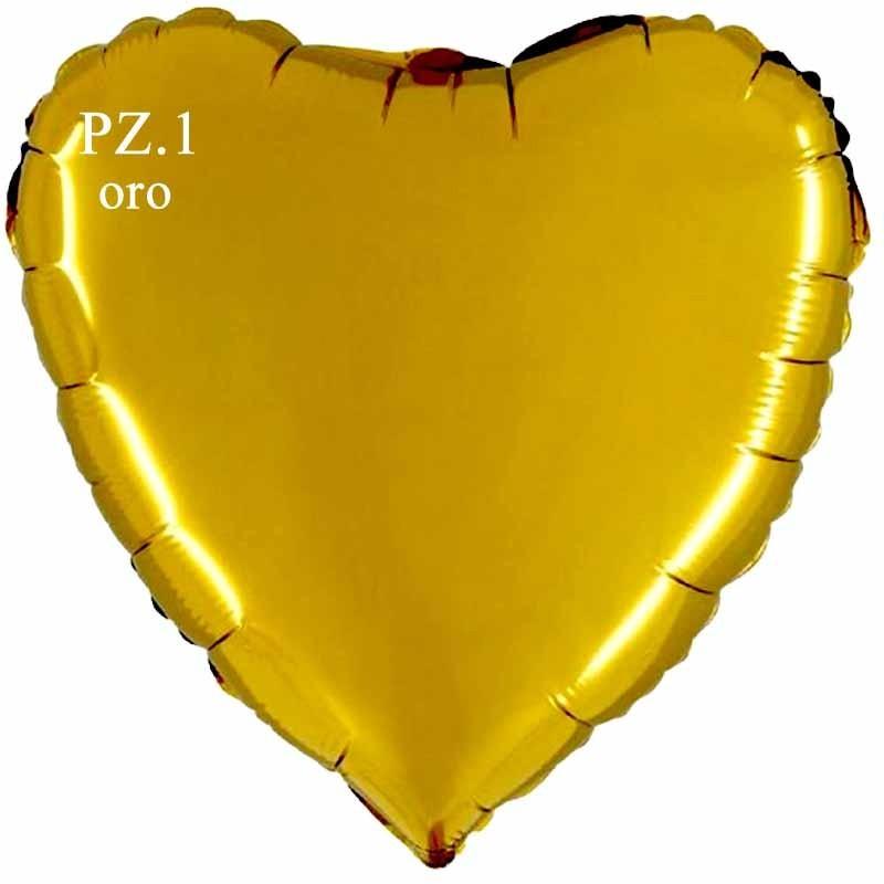 palloncino cuore oro cm.80