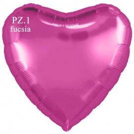 palloncino cuore fucsia cm.80