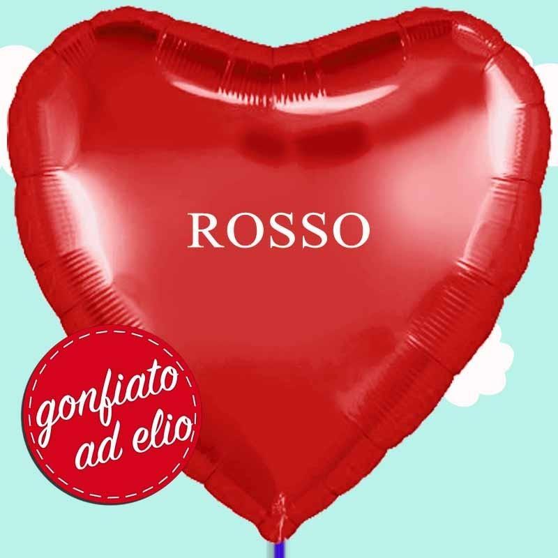 palloncino forma di cuore rosso maxi ad elio