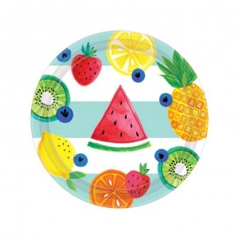 piattino con frutta stampata