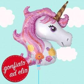 palloncino testa di unicorno ad elio