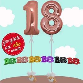 numero 18 palloncini maxi ad elio