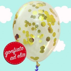 palloncino con confetti oro metallizzato