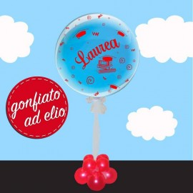 palloncino burle laurea trasparente 61 cm