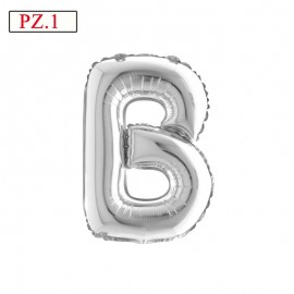 palloncino lettera B in mylar argento