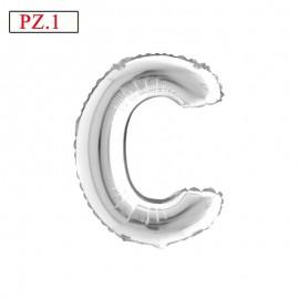 palloncino lettera C medio silver