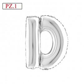 palloncino lettera D argento