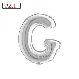 lettera G palloncino silver